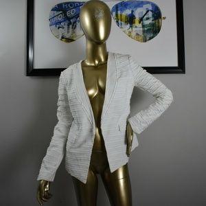BCBG MAXAZRIA Womens White Blazer Size Small S